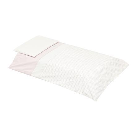 cambrass Couverture de lit enfant étoile rose 100x140 cm