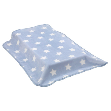 cambrass Raschel Decke Stars  110x140 cm himmelblau
