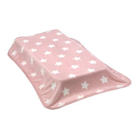 cambrass Manta Raschel Stars 110x140 cm rosa