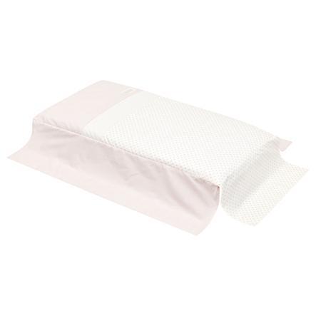 cambrass Colcha para cuna de bebé 70x140cm Star rosa