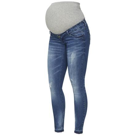 mama licious těhotenské džíny MLSALO Medium Blue Denim
