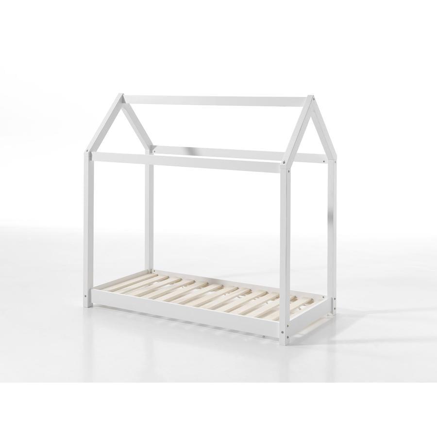 VIPACK postel domeček Cabane 70 x 140 cm bílá