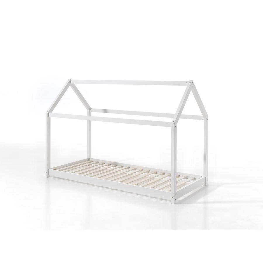 VIPACK Hausbett Cabane 90 x 200 cm weiß