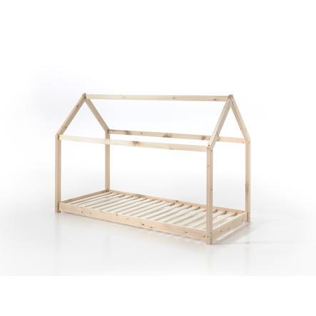 VIPACK postel domeček Cabane 90 x 200 cm přírodní