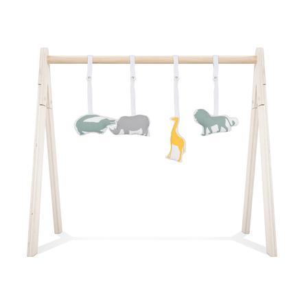 jollein Jouets suspendus pour portique d'éveil safari 4 pièces