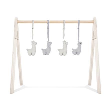 jollein Jouets suspendus pour portique d'éveil lama 4 pièces