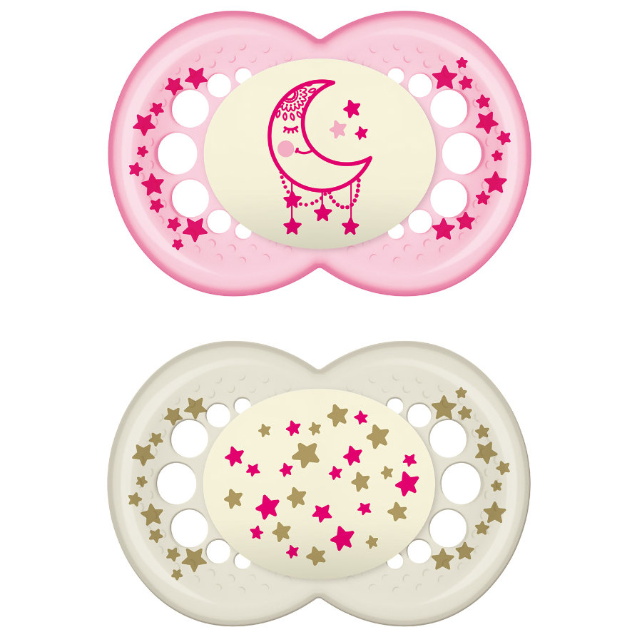 MAM Maxi Ulti Night Latex Pacifier / Dummy 16+ Months for Girls
