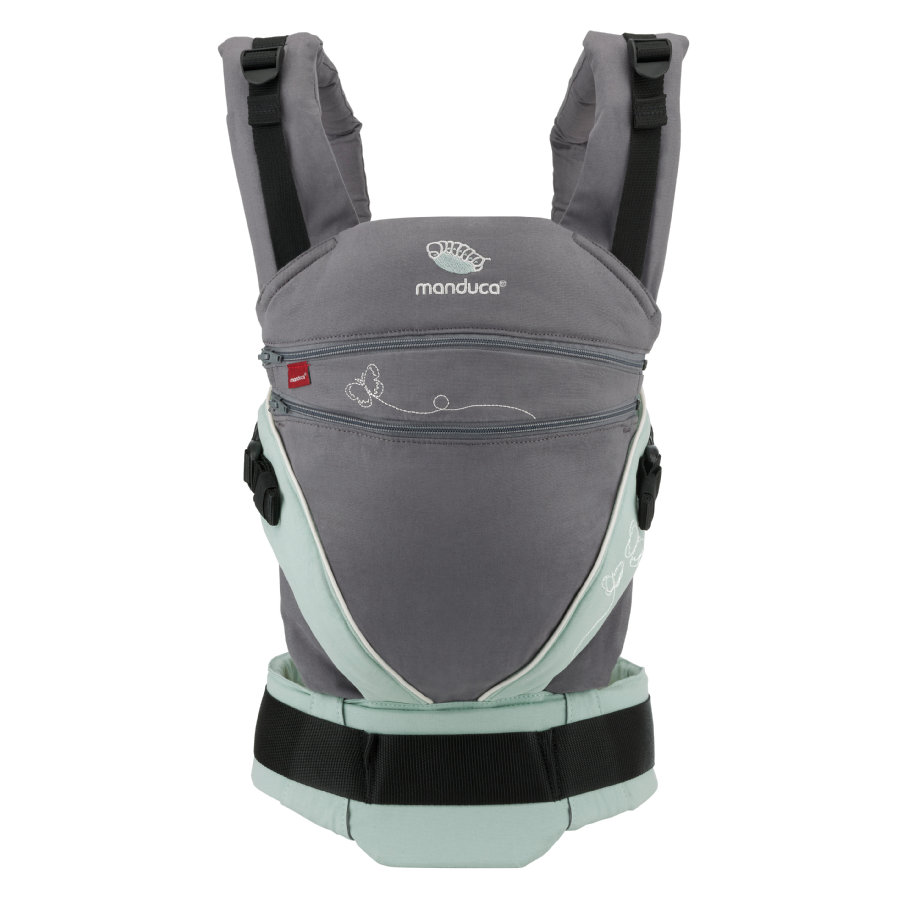 manduca Bauchtrage XT Limited Edition Butterfly grey/mint