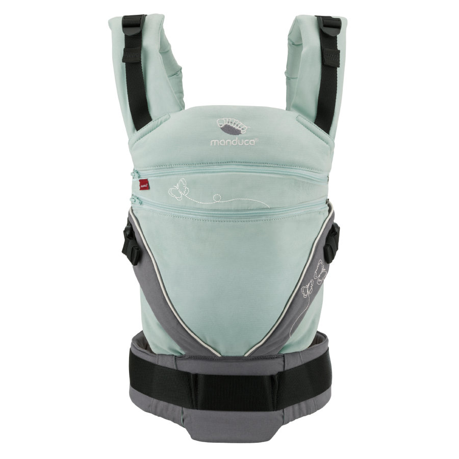 manduca Bauchtrage XT Limited Edition Butterfly mint/grey