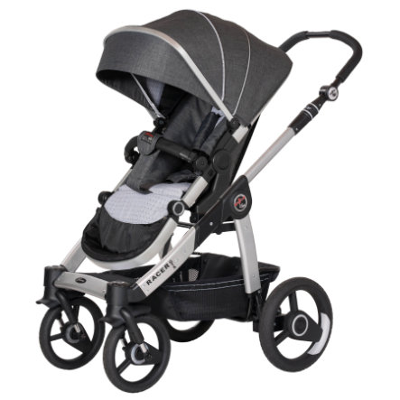 hartan kinderwagen racer gtx mit handbremse grey spot 633. Black Bedroom Furniture Sets. Home Design Ideas
