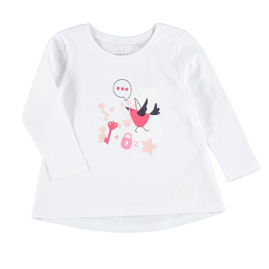 name it Girl s Camisa de manga larga Nmfviolet blanco brillante