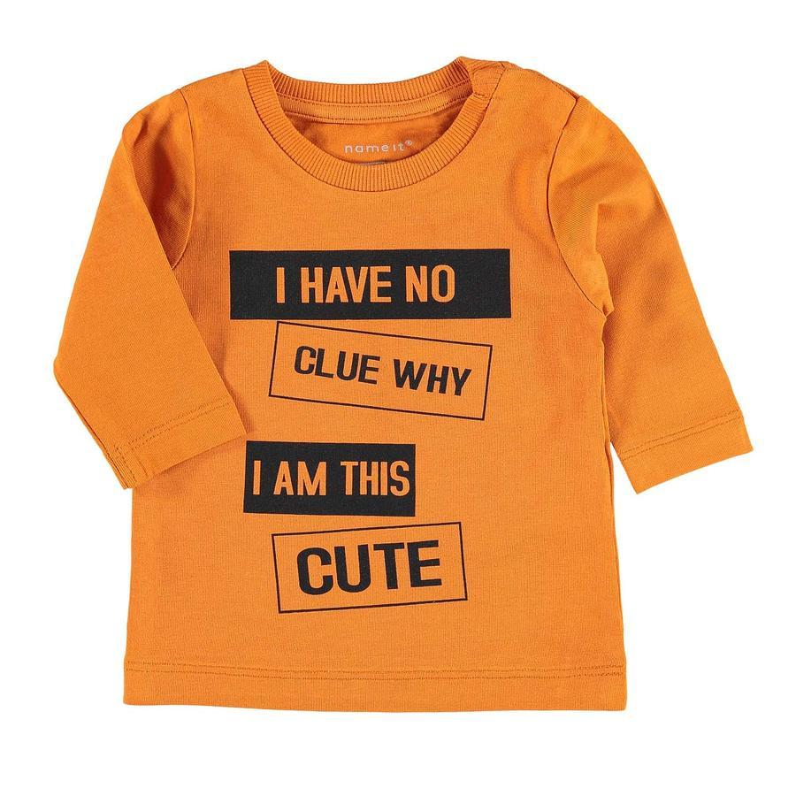 name it Boys Lange mouw shirt Napin, herfst esdoorn