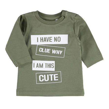 name it Chlapecké tričko s dlouhým rukávem Napin, hořlavé olive