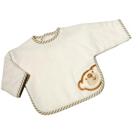 Wees 's Collection Mouw Slabbetje met klittenband Groot  Willi beige