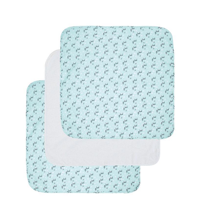 Luma® Babycare Hydrofiele doek 3 stuks Racoon Mint