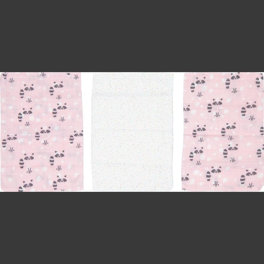 Luma® Babycare Lavette Bambus, 3 pezzi Racoon Pink