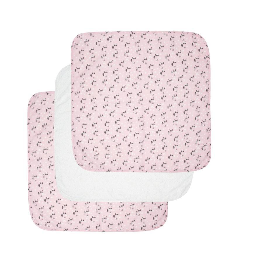 Luma® Babycare Toallas de baño Pack de 3 unidades Racoon Pink