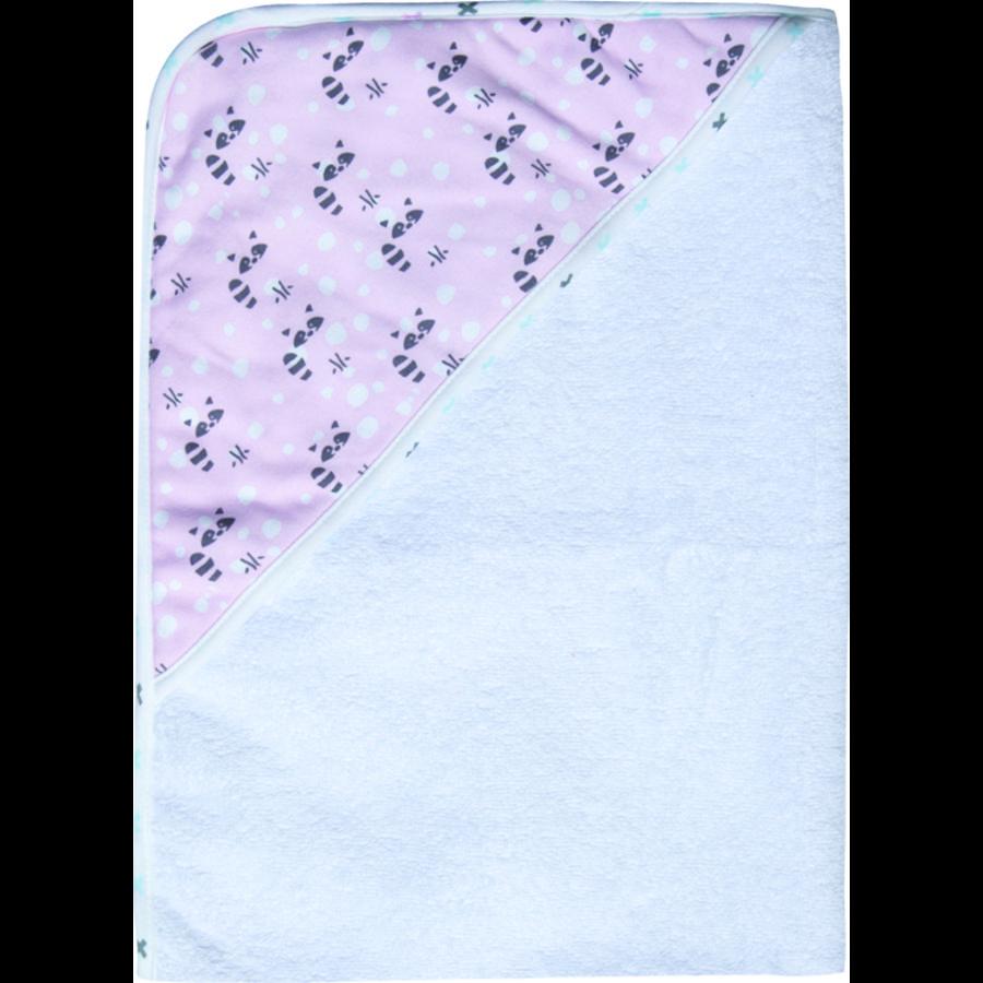 Luma® Babycare  Asciugamano con cappuccio Racoon Pink