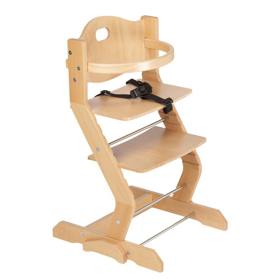 tiSsi® Jídelní židlička s bezpečnostním madlem nature