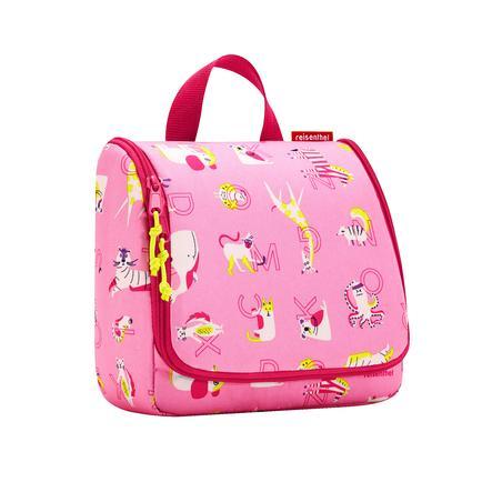 reisenthel toalettveske barn abc venner rosa pinkorblue.no