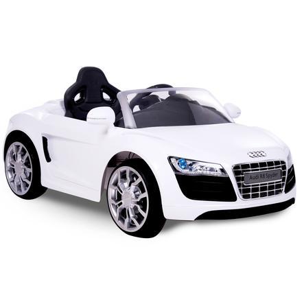ROLLPLAY Voiture radiocommandée Audio R8 Cabrio 6V blanc