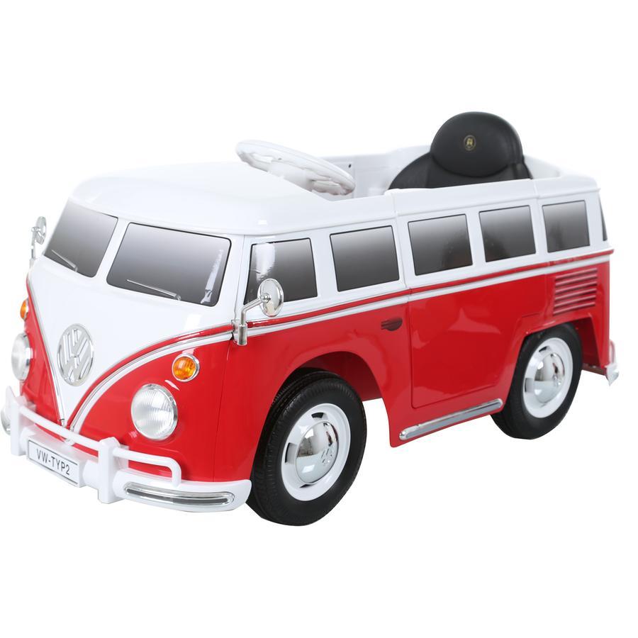 ROLLPLAY Voiture électrique enfant van VW T2 6V rouge