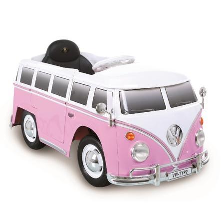 ROLLPLAY Voiture électrique/radiocommandée enfant van VW T2 6V rose