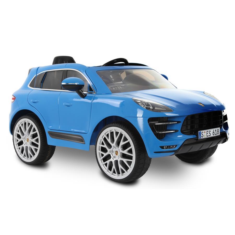 ROLLPLAY Coche eléctrico Porsche Macan Turbo 12V RC, azul