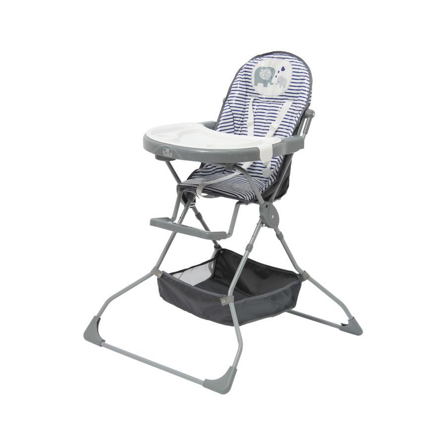 Polini Kids Chaise haute enfant 252 plastique blanc/bleu/gris