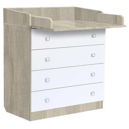 Cassettiera Ikea Con Fasciatoio.Polini Kids Baby Fasciatoio Simple 1580 Olmo Bianco Pinkorblue It
