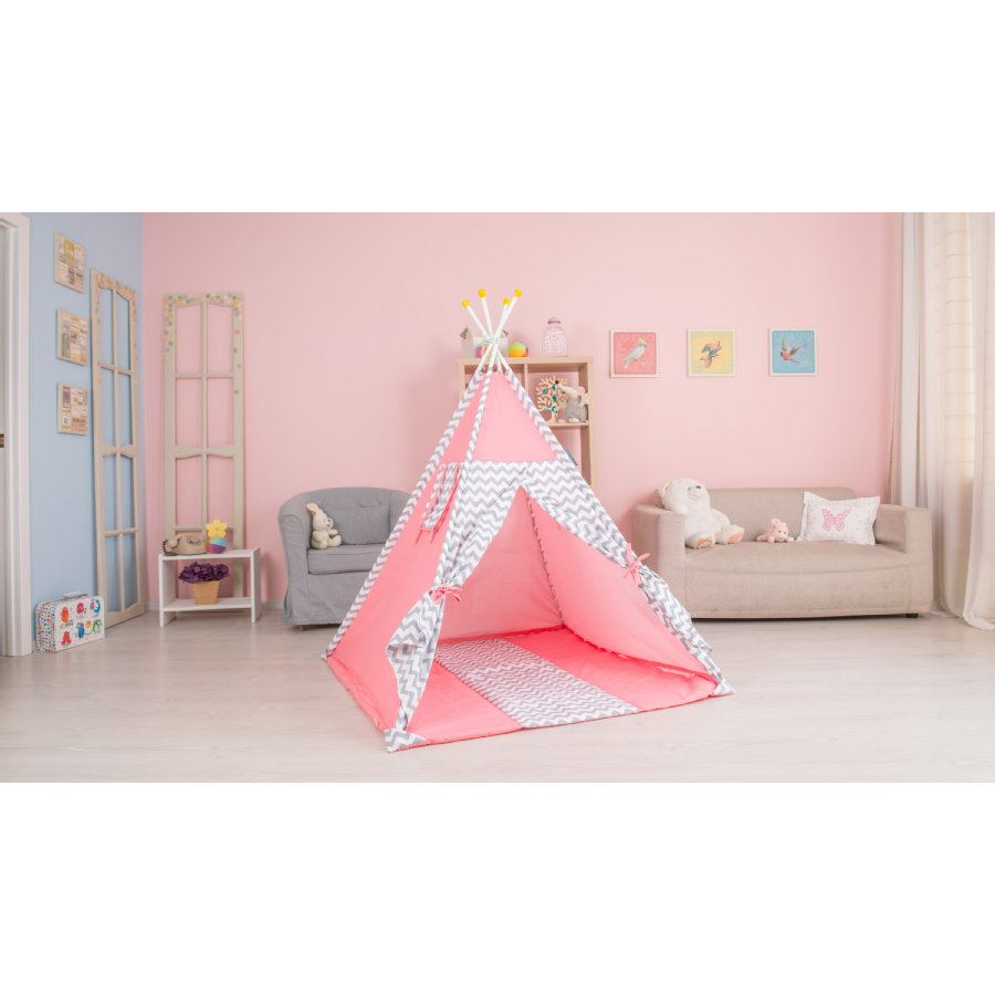 Polini Kids Tenda gioco Tipi rosa