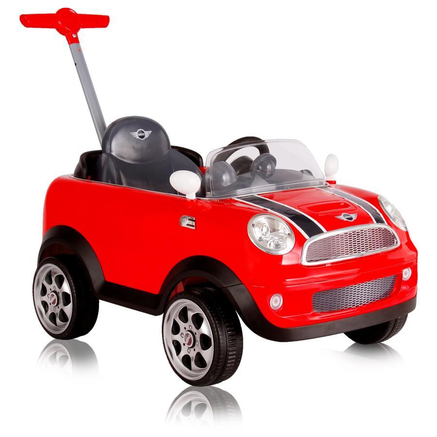 ROLLPLAY Mini Cooper Push Car, mit Pedal, rot -