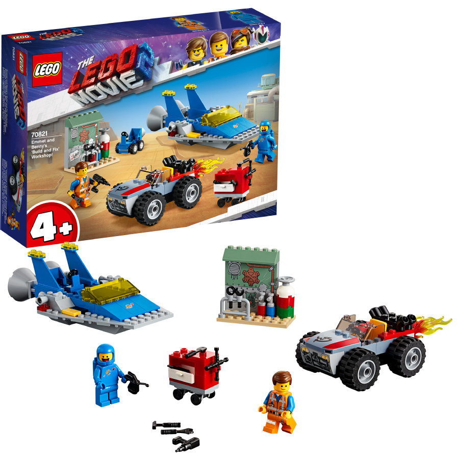 LEGO® The LEGO Movie™ 2 Emmets en Benny's bouw- en reparatiewerkplaats 70821