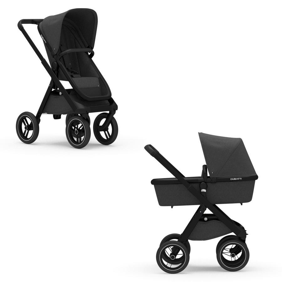 DUBATTI Kinderwagen One Black/Black/Melange Black