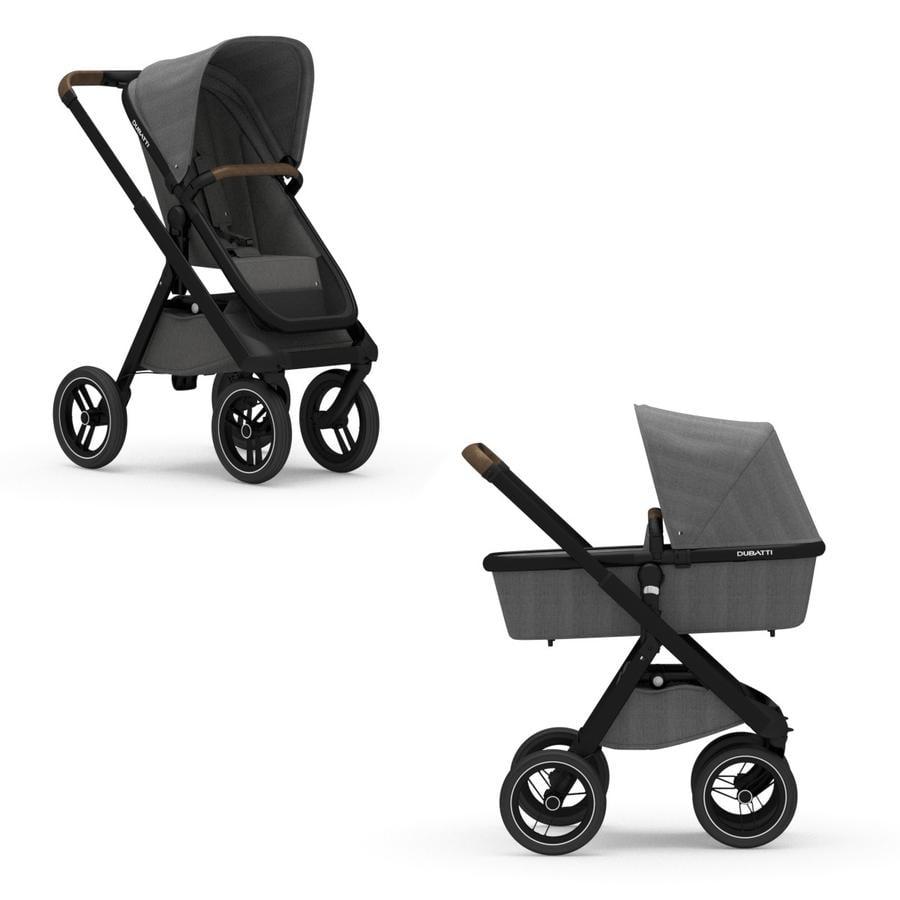DUBATTI Kinderwagen One Black/Dark Brown/Melange Anthracite