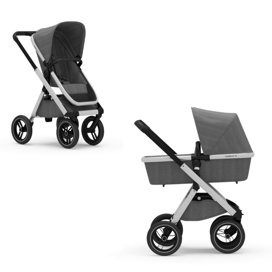 DUBATTI Kinderwagen One Silver/Black/Melange Grey