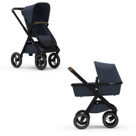 DUBATTI Kinderwagen Black/Dark Brown/Navy