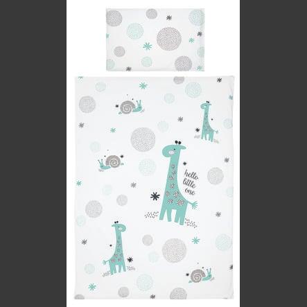 bebe-beddengoed jou® design Hello little een mint 100x135cm
