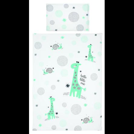 bebe- jou® design biancheria da letto Hello little una mint 100x135cm