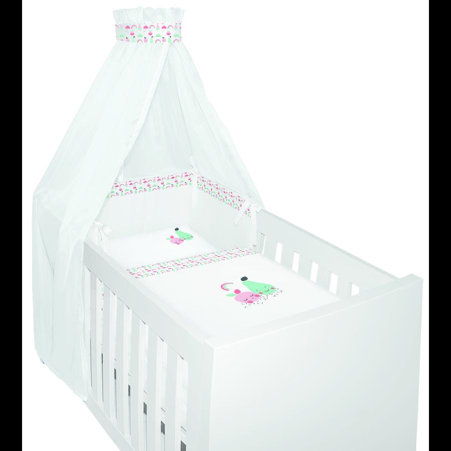 Bebe- jou® design 4 tlgs. Conjunto de cama Blush Baby bebe-jou rosa , pink