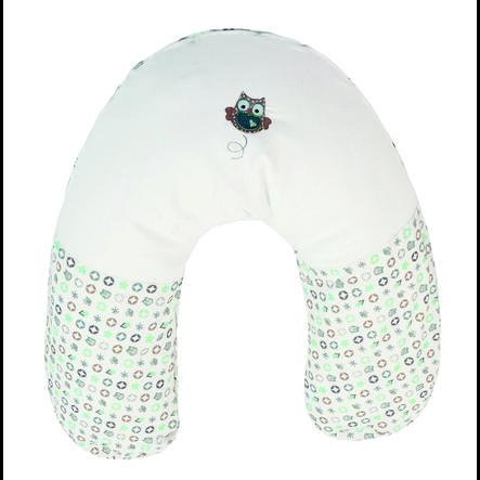 almohada de lactancia bebe-jou® incl. funda Búho Family mint