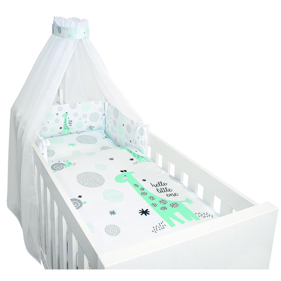 bebe-jou® design 4 tlgs. Bettset Hello little one mint