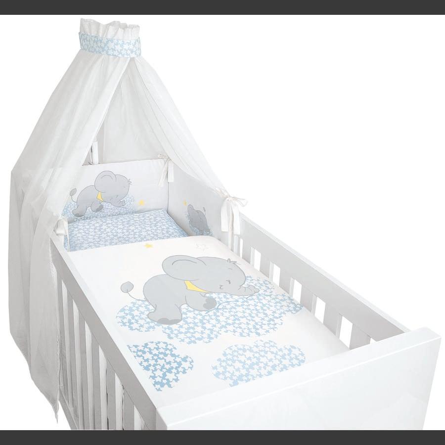 bebella vital Parure de lit enfant Lunafant bleu 4 pièces