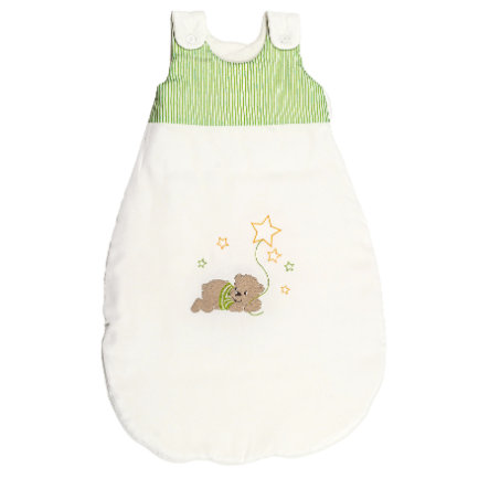 bebella vital Ganzjahresschlafsack Bär & Stars grün