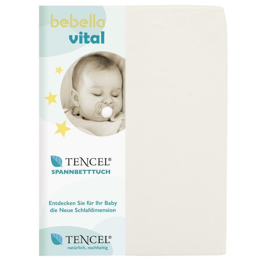 bebella vital Drap housse enfant 40x90 cm naturel