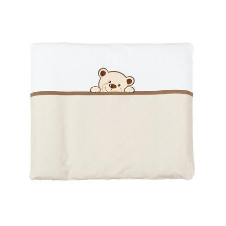 Tapis à langer SONNE avec housse Benni en tissu beige ours