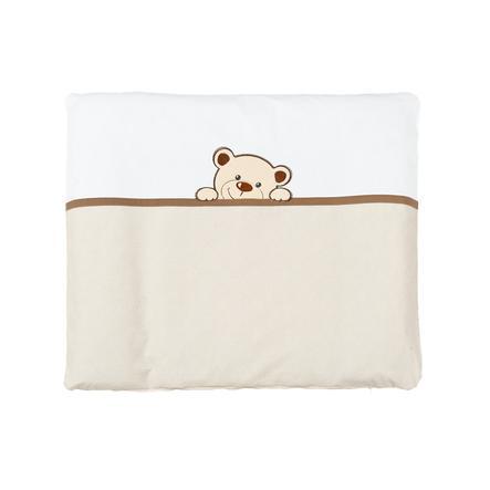 ZONNE kleedkussen met stoffen bekleding Benni van de beer beige