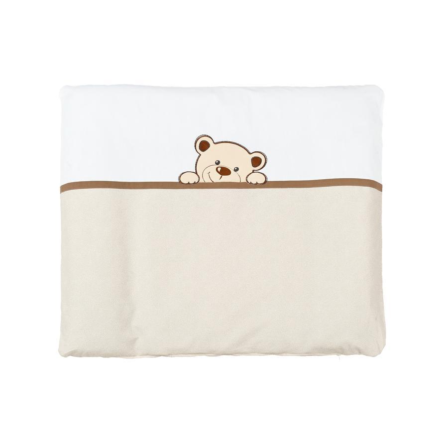 SONNE Wickelauflage mit Stoffbezug Benni der Bär beige