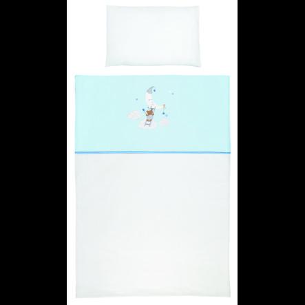 SONNE Bettwäsche 100x135cm Himmelsleiter blau