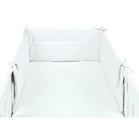 SONNE Tour de lit enfant uni 32x210 cm blanc